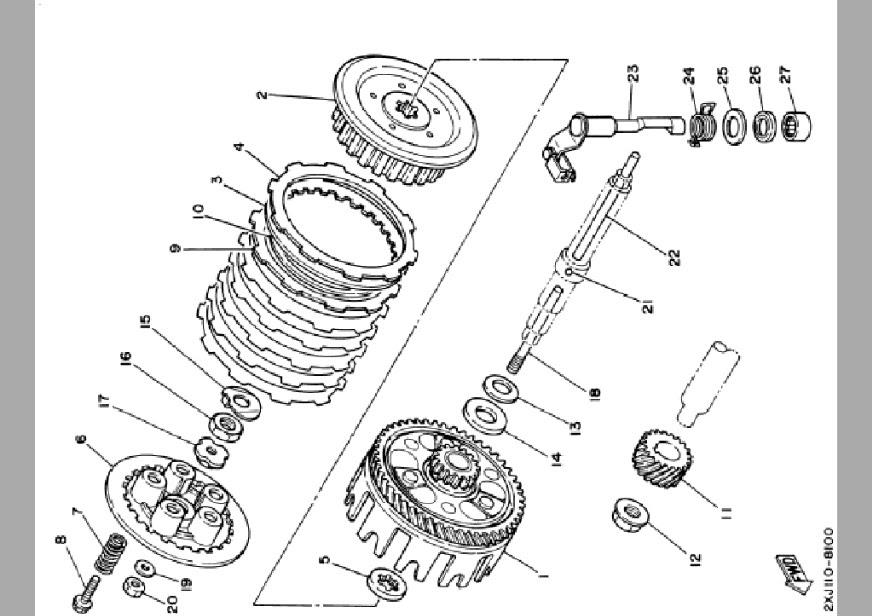 Yamaha Blaster Engine Diagram : Plate Thrust 1 For Yfs200b