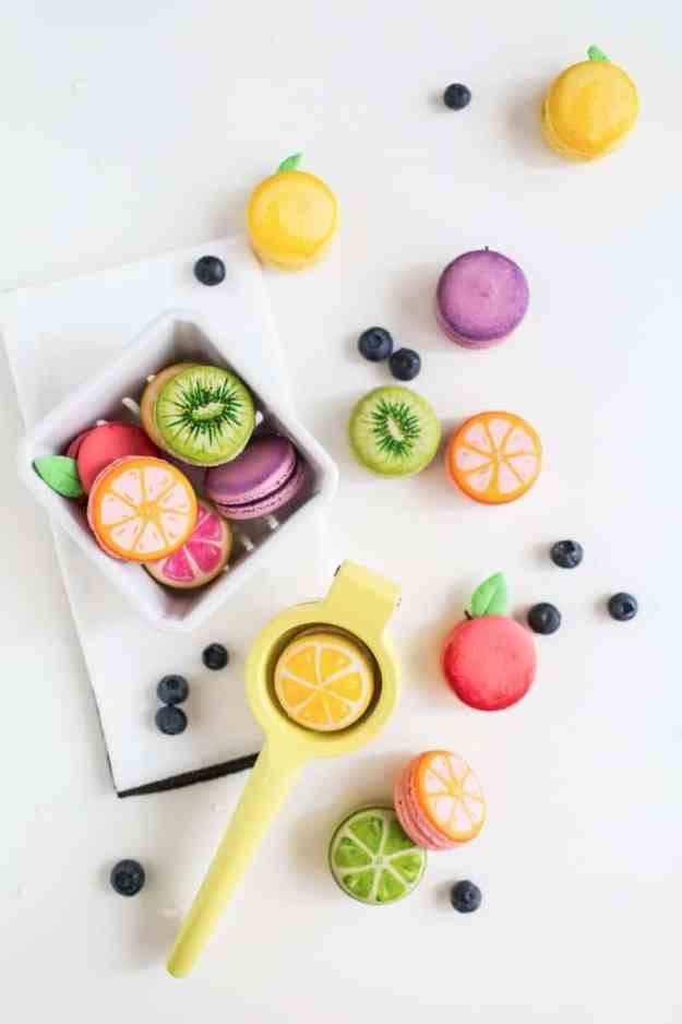 DIY meyve macarons | sugarandcloth.com