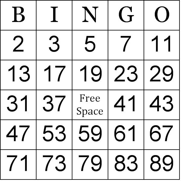 Bingo games printable