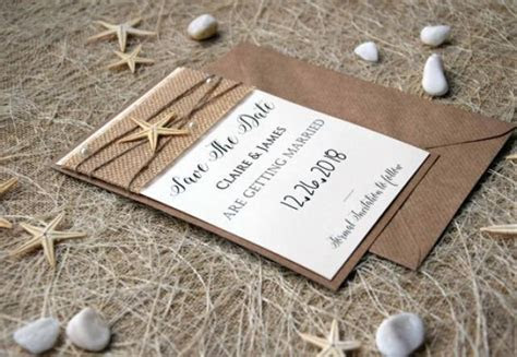 Save The Date Wedding Cards, Beach Wedding Save The Dates