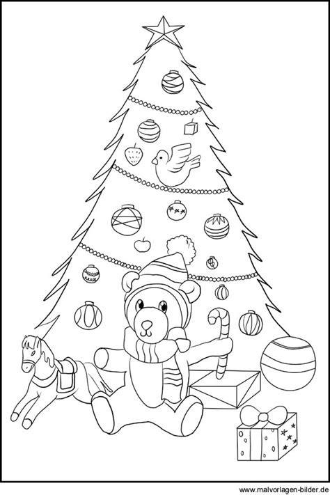 ausmalbilder weihnachten christbaum  kostenlose