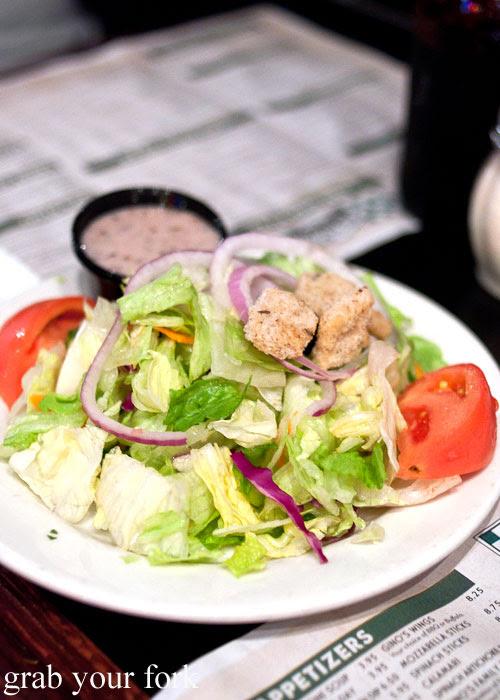 Gino's East fresh house salad Gino's East Pizzeria Chicago Illinois