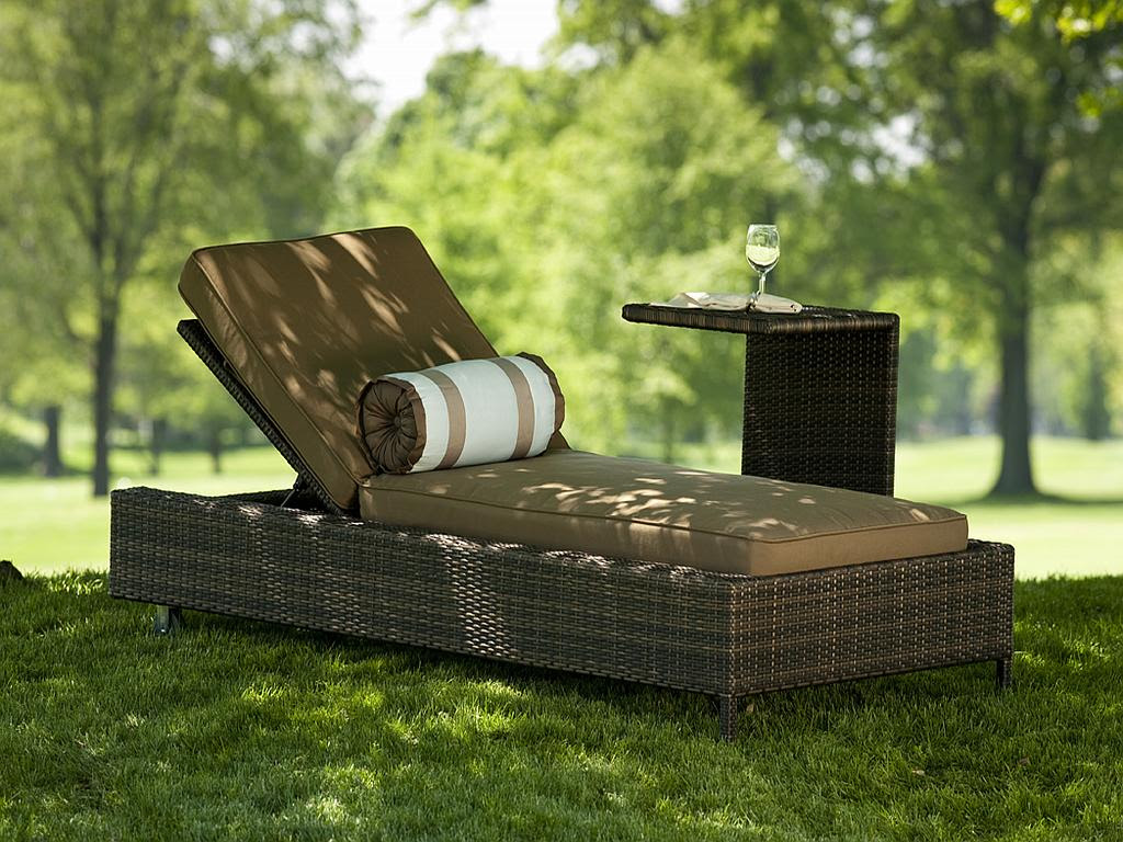 Nevis All Weather Resin Wicker Chaise Lounge - 1211