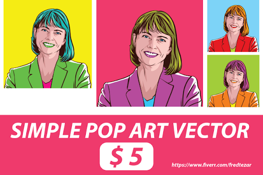 I will draw Simple Vector Pop Art from Your Photos