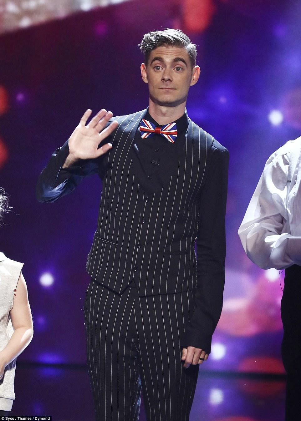 Doing well:Up next was Ant and Dec's golden buzzer act, comedic magician Matt Edwards