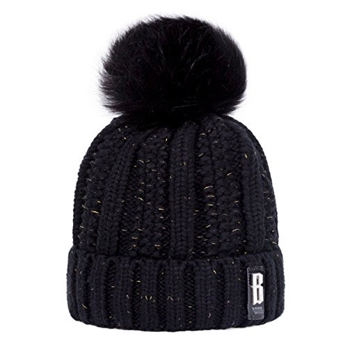 Review for Thick Pom Beanie Hat, ADUO Women\'s Winter Fleece Lined Cable Knitted Pom Beanie... - Anita Truckenmiller - Blog Booster