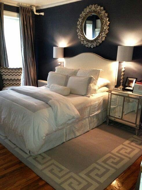 Black bedrooms may not be the norm but when done right, they can be so romantically lux!!! Love It!