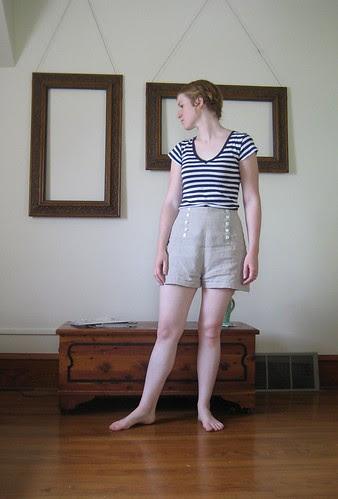 linen shorts i made
