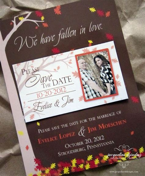 Evelice & Jim's Autumn Save the Date Magnets   Jacqueline