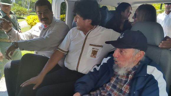 cuba, fidel castro, lider cubano, evo morales, bolivia, nicolas maduro, venezuela