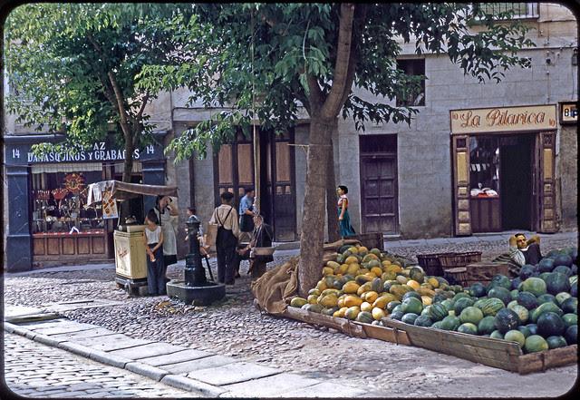 Calle de Santo Tomé en 1955. Fotografía de Jean Paul Margnac © Jean Paul Margnac