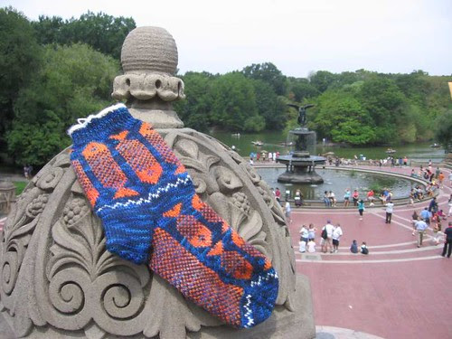 Piscean Sock at Bethesda Fountain