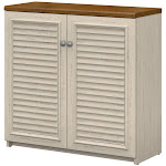 Fairview Small Storage Cabinet with Doors in Antique White - Engineered Wood - WC53296-03