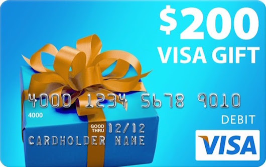 Win a $200 Visa Gift Card Today!!!!
