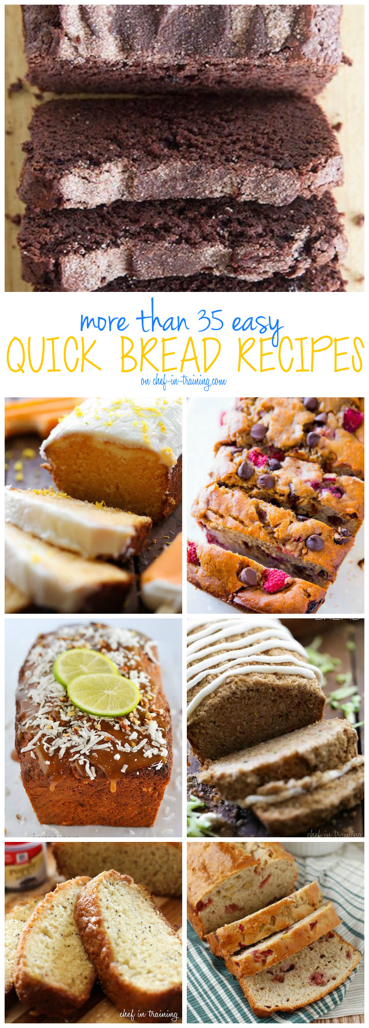 More Than 35 EASY Quick Bread Recipes - Chef in Training