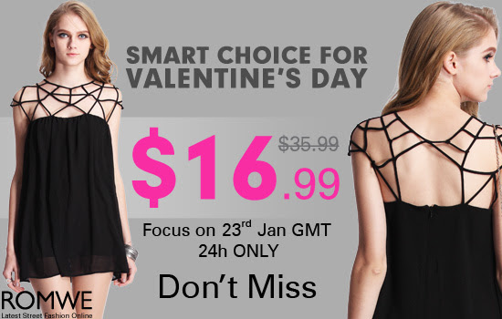 Edgy & elegant dress, smart choice for Valentine's Day
