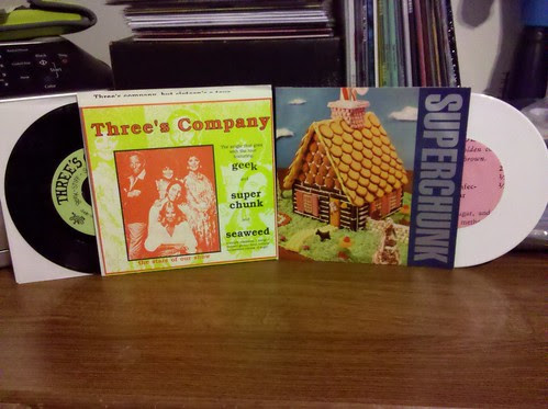 "Superchunk / Tsunami Split 7"" & Superchunk / Seaweed / Geek - 3 Way Split 7"""