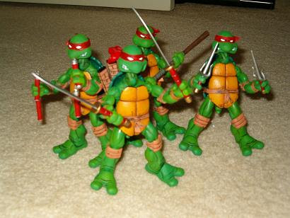 NECA TMNT // Ironman's TMNT 4-pack samples 2