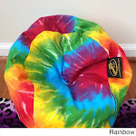 Ahh Products LiL Me Tye Dye 14-inch Doll Bean Bag Chair Rainbow