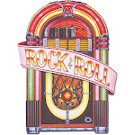 """Party Central Club Pack of 12 Vintage-Style 50's Rock & Roll Juke Box Cutout Decorations 36"""""""