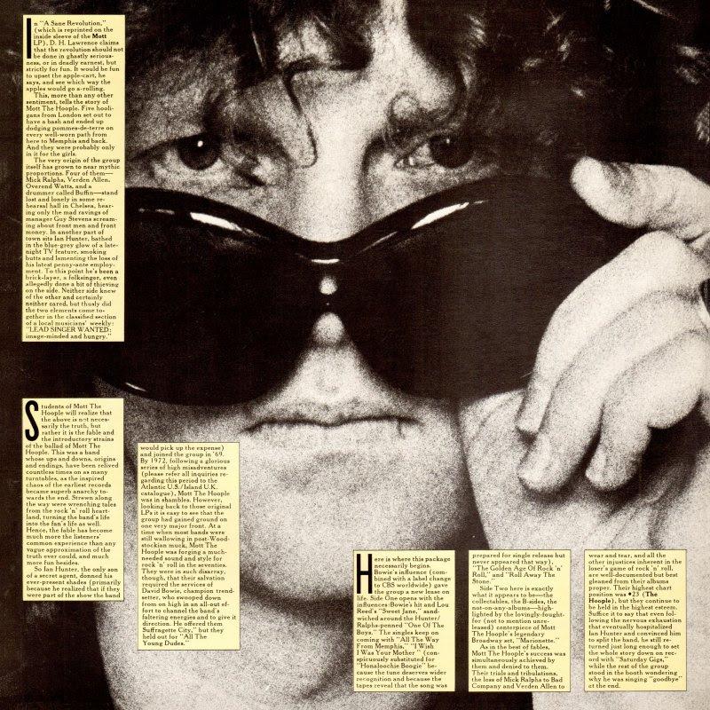 Vinyl Album Ian Hunter And Mott The Hoople Shades Of Ian Hunter