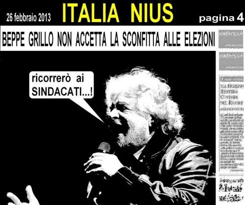 satira,attualità,elezioni 2013,sogno,giornali del 26 febbraio,alfano,bersani,monti,grillo,
