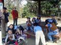 47公園で昼食