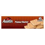 Austin Peanut Butter Sandwich Crackers, 1.38 oz, 45-count