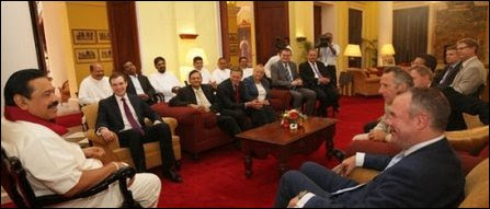 British Conservatives wtih Mahinda Rajapaksa