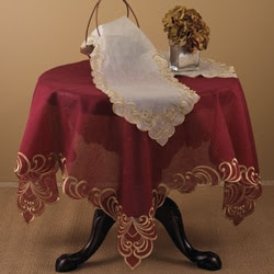 Table Linens with Gold-embroidered Borders | Overstock.com