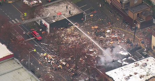 9 firefighters hurt, 3 businesses destroyed in Seattle explosion