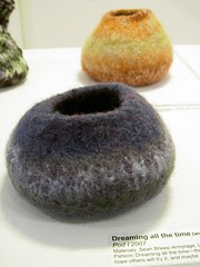 Dreaming all the time's felted pods