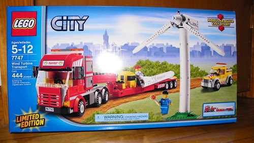 7747 LEGO Wind turbine Transport