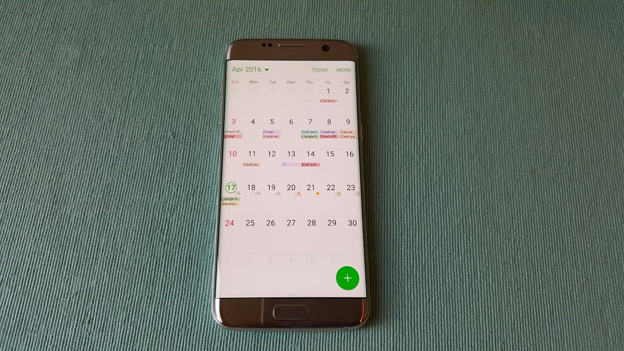 How To Use S Planner For Schedules On Samsung Galaxy S7/Edge/S6 ...