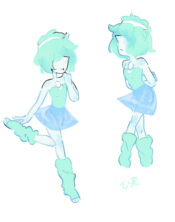 Doodles of Blue Pearl in some workout clothes. (design by @marshiyan)