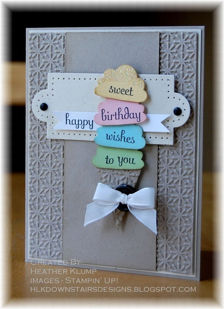 Stampin' Up!  Cupcake Punch  Heather Klump at Downstairs Designs