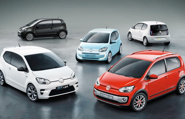 Família de conceitos VW up! (Foto: Volkswagen)