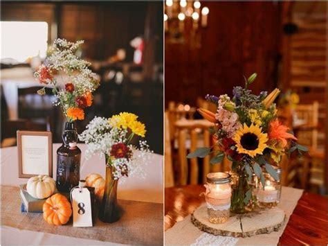 45 Fall & Autumn Wedding Centerpieces Ideas   Deer Pearl
