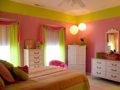 Konsep 16 Warna Cat Kamar Pink Dan Hijau