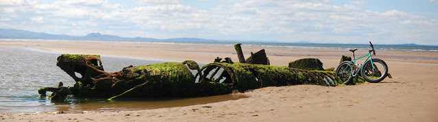 Surly Pugsley at the Subs, Aberlady Bay