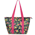 """Zodaca Insulated Leak Resistant Lunch Tote Double Handles Carry Zip Closure Bag (Size: 15""""L x 5""""W x 10""""H) - Multifloral"""