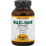 Country Life Maxi-Hair Maximized Nourishment for Hair Nails & Skin, Tablets - 90 count