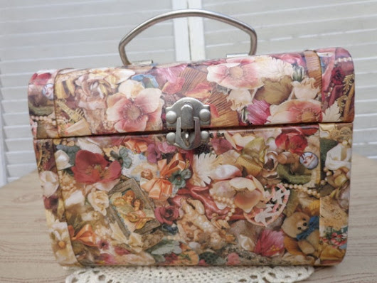 Jewelry Box Trunk Suitcase Floral Variety Vintage by frstyfrolk