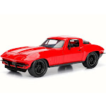 Letty's Chevy Corvette, Red - Jada 98434 - 1/24 Scale Diecast Model Toy Car