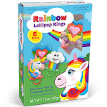 Primary Colors 7102-PC 3 oz Rainbow Ring Pop Gift Box - 6 per Pack - Set of 6