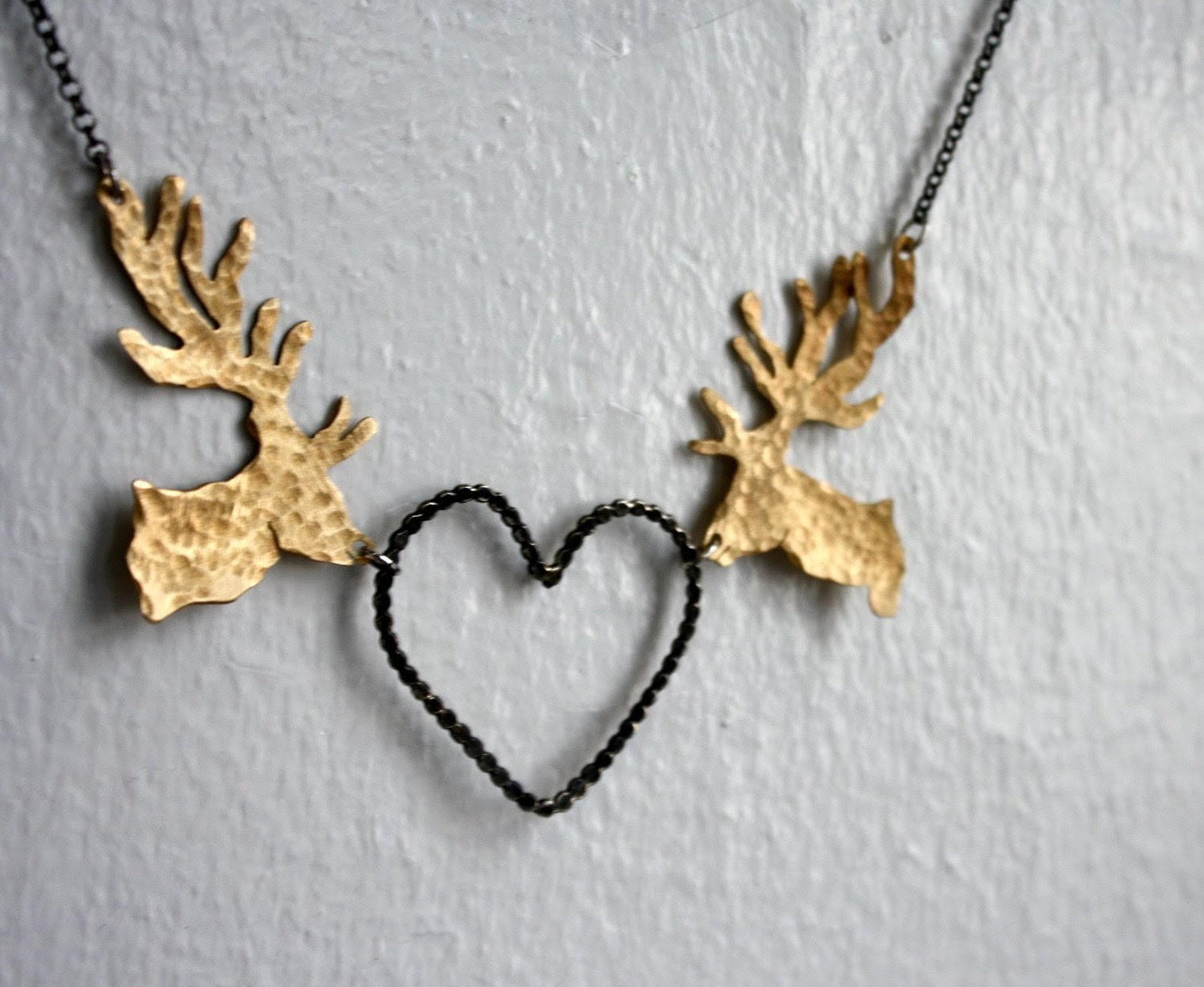 Deer in Love Necklace