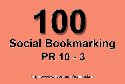I will do 100 PR 10 to3 social bookmarking