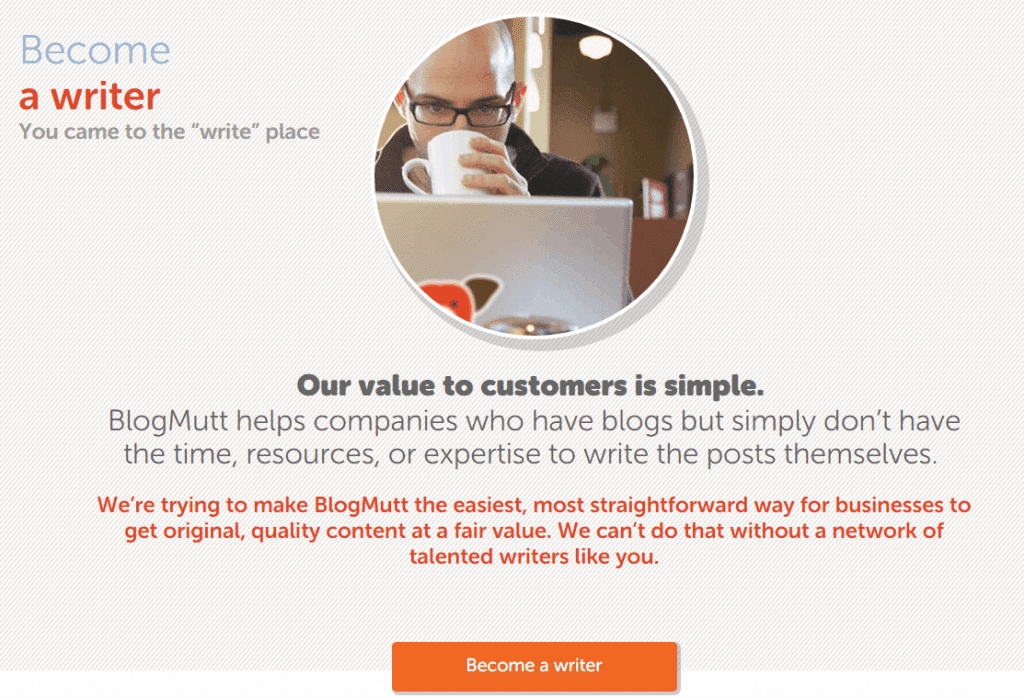 become a writer at BlogMutt - screenshot