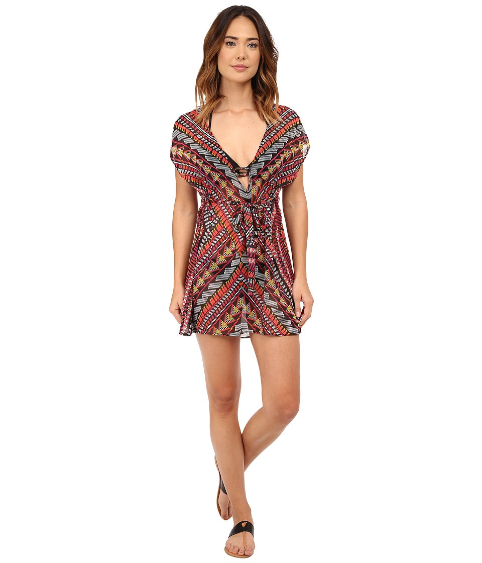 BECCA by Rebecca Virtue - Caravan Tunic Cover-Up (Multi) Women's Swimwear