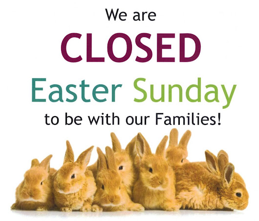 We are closed on Easter Sunday! - Santa Fe Terra Western Furniture